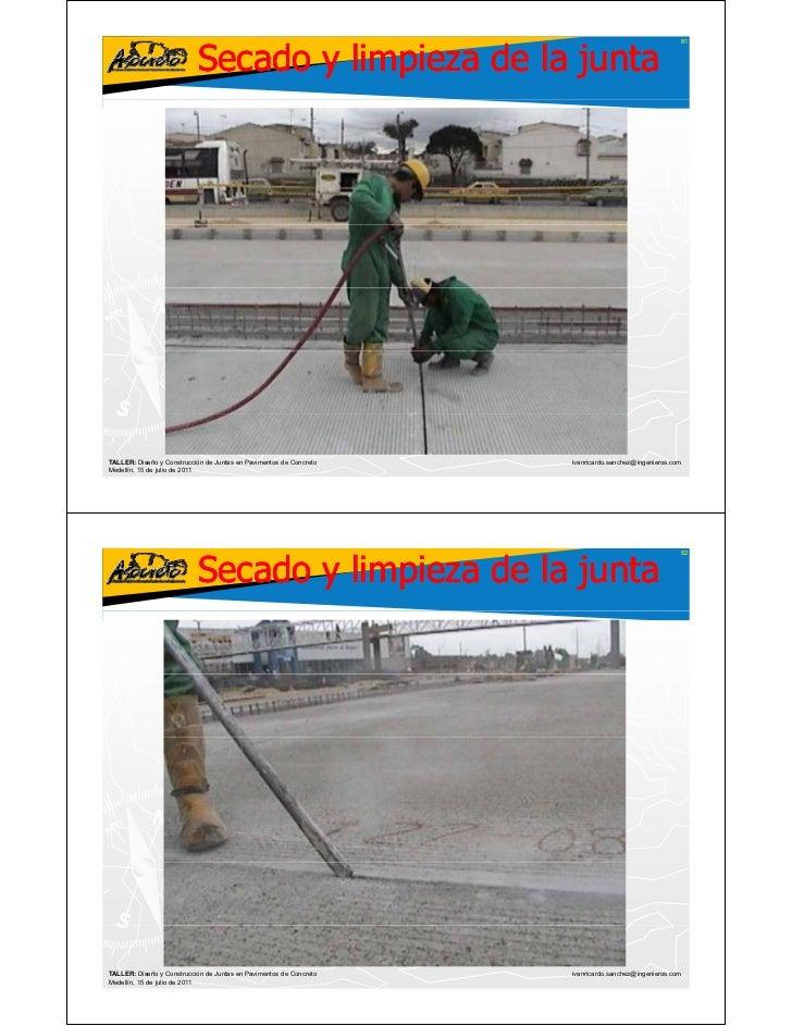 Corte y sellado de juntas en pavimentos de concreto for Limpiador de juntas