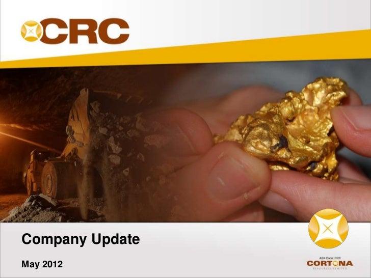 Company UpdateMay 2012