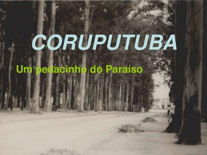 CORUPUTUBA<br />Um pedacinho do Paraíso<br />
