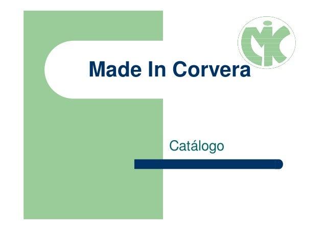 Made In Corvera Catálogo