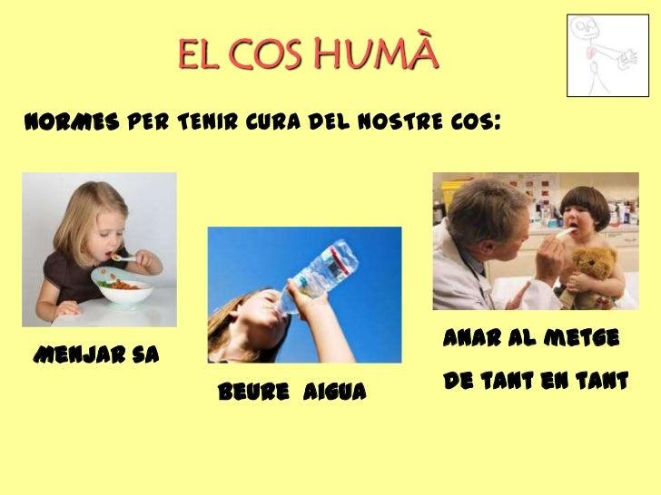 EL COS HUMÀNORMES PER TENIR CURA DEL NOSTRE COS:                                Anar al metgeMenjar sa               Beure...