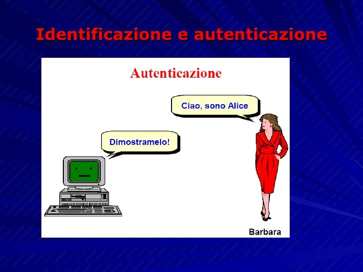 Identificazione e autenticazione