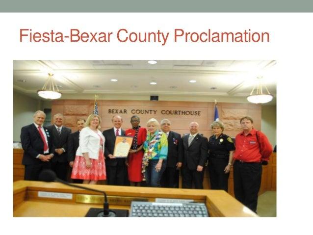 Fiesta-Bexar County Proclamation