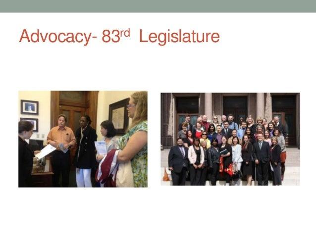 Advocacy- 83rd Legislature
