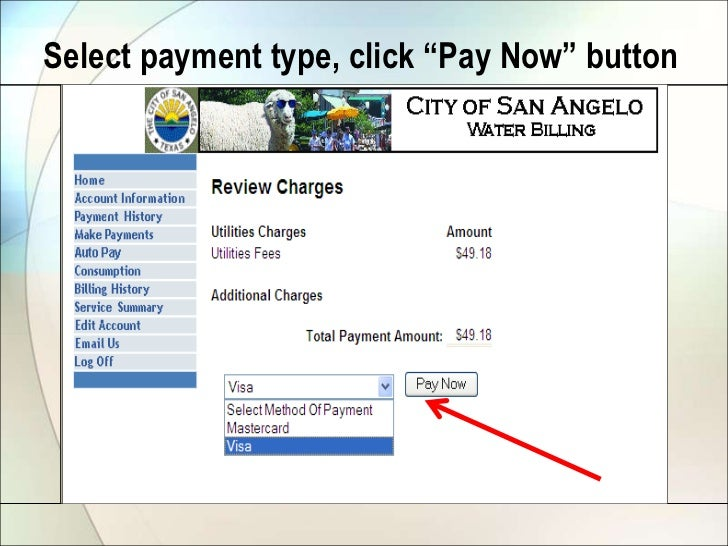 City Council March 22 - Water Bill Online Payment