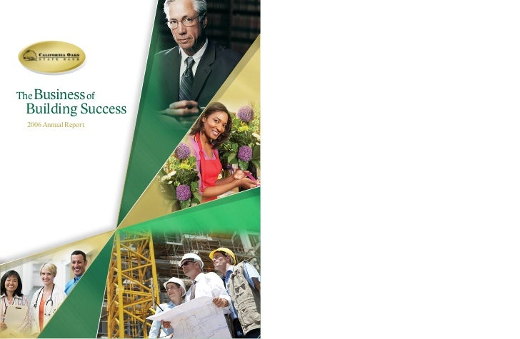 The Business of Building success  2006 annual Report