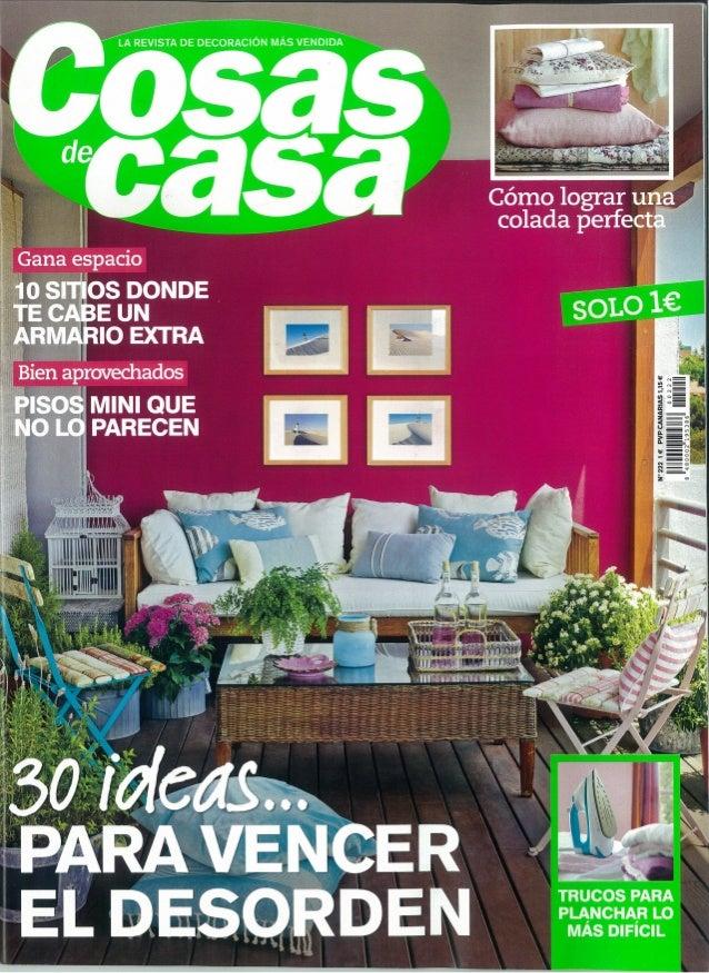 """""""Pocos metros y mucho orden"""": la decoradora Margarida Muñoz en la revista Cosas de Casa"""