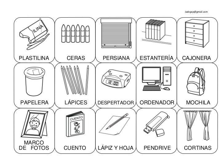 Cosas de la casa for 10 objetos del salon en ingles