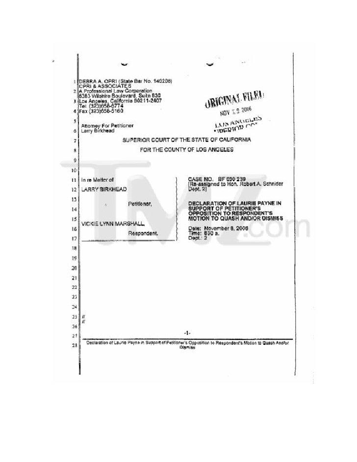 Laurie Payne Affidavit