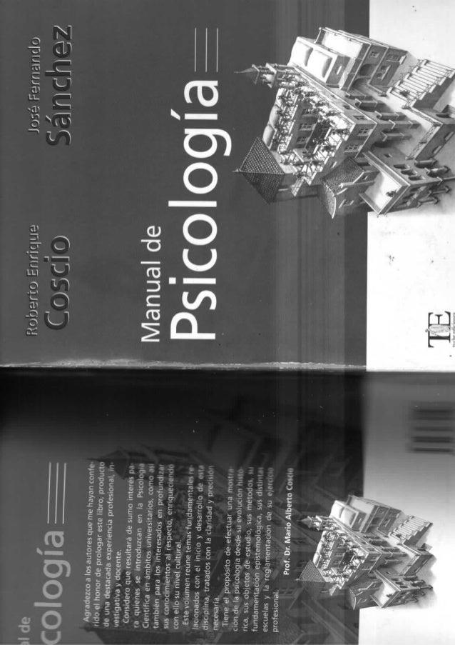 Los Métodos en psicología - COSCIO Y SANCHEZ: MANUAL DE PSICOLOGIA. cap. 5 metodos