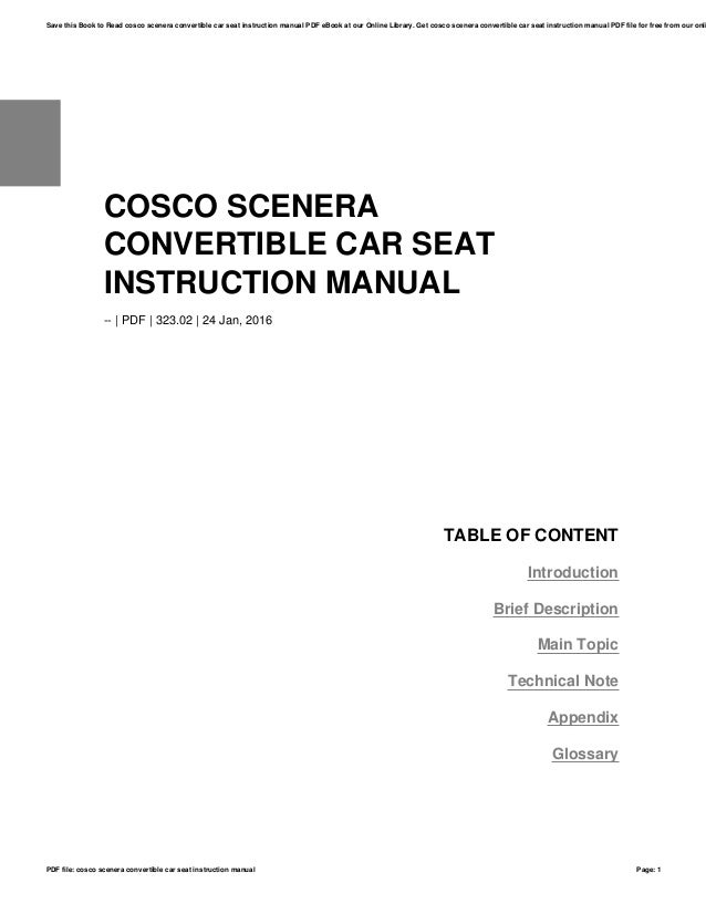 cosco scenera convertible car seat instruction manual rh slideshare net cosco baby car seat manual cosco car seat 4359 manual