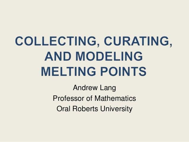 Andrew LangProfessor of Mathematics Oral Roberts University