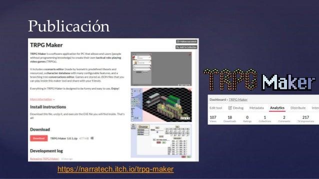 Publicación https://narratech.itch.io/trpg-maker