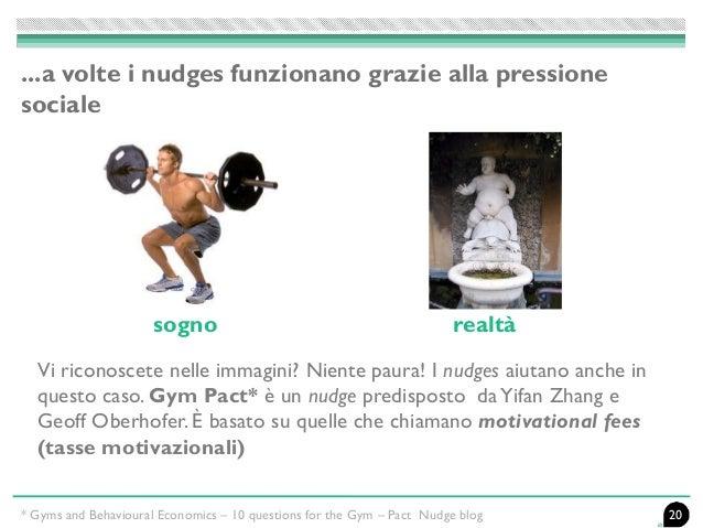 Vi riconoscete nelle immagini? Niente paura! I nudges aiutano anche in questo caso. Gym Pact* è un nudge predisposto daYif...