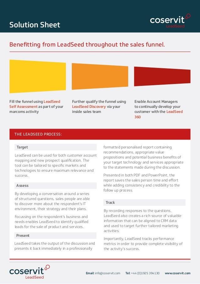 Coservit - LeadSeed solution sheet Slide 3