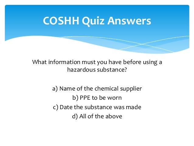 Coshh training stage 2 2014 slideshare - 웹