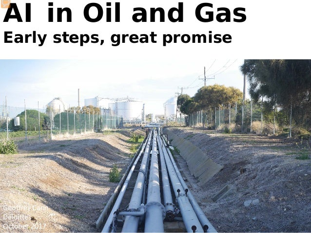 AI in Oil and Gas Early steps, great promise Geoffrey Cann Deloitte October 2017