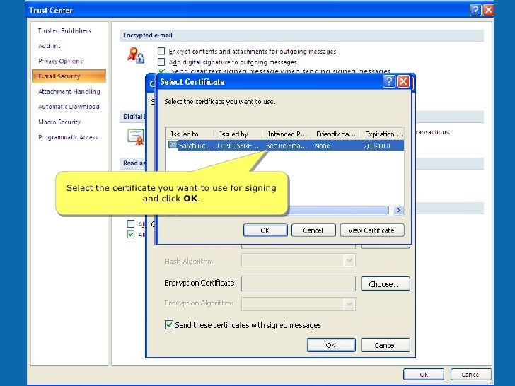 Cosign digital signatures for microsoft word2003.