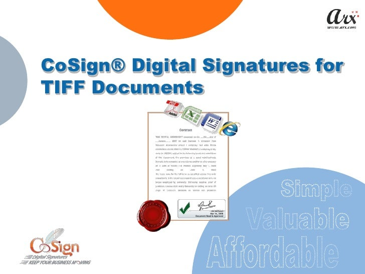 CoSign® Digital Signatures for TIFF Documents
