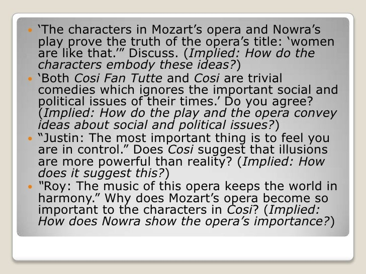 """Cosi"" by Louis Nowra Essay Sample"