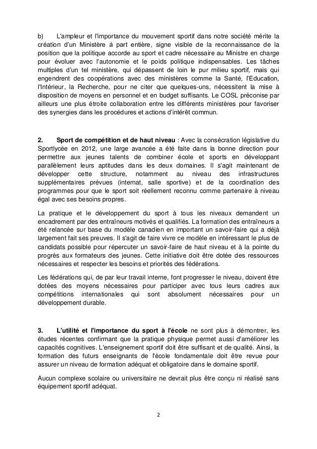 Document du COSL à l'intention des partis politiques  Slide 2