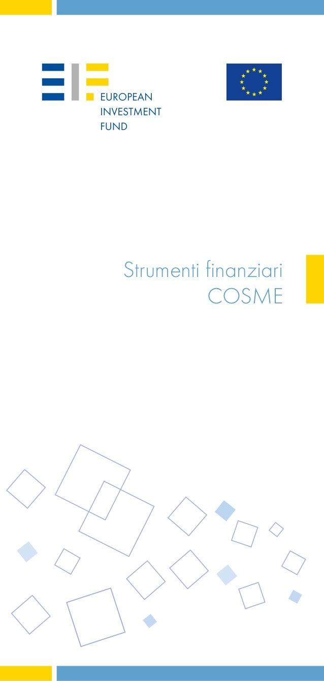Strumenti finanziari COSME