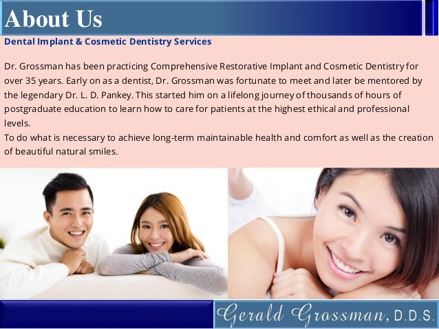 Cosmetic dentistry garden city gerald grossman dds