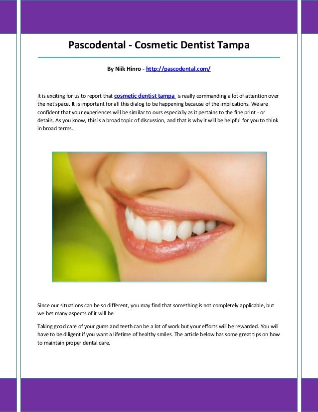 Pascodental - Cosmetic Dentist Tampa_____________________________________________________________________________________ ...