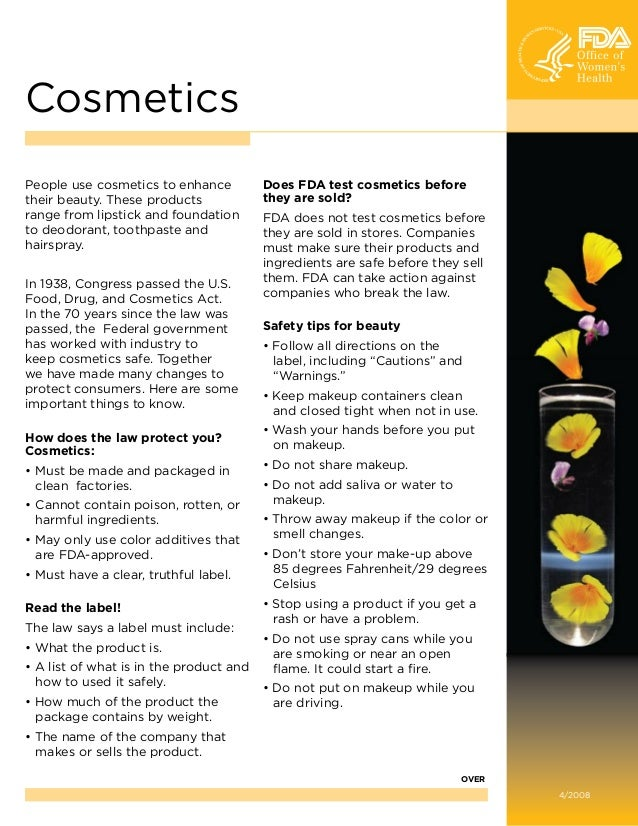 Cosmetics People use cosmetics to enhance their beauty. These products range from lipstick and foundation to deodorant, to...