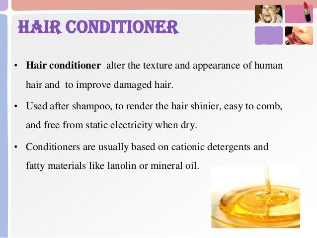 Cosmetics for hair