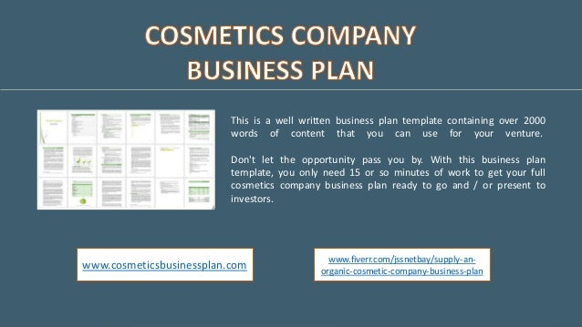 organic cosmetics business plan
