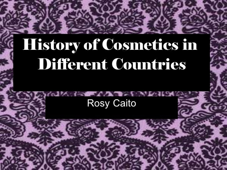 history of cosmetics History of cosmetics a brief history of cosmetics in roman times cosmetics are as old as history a roman's worldly ways of the flesh had always been emphasized with.