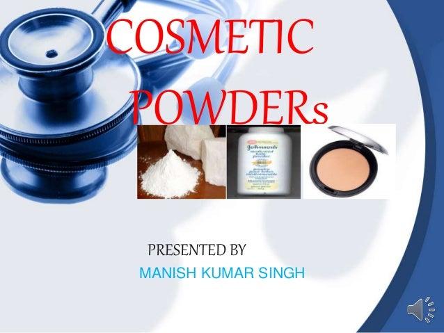 power point on cosmetics powders