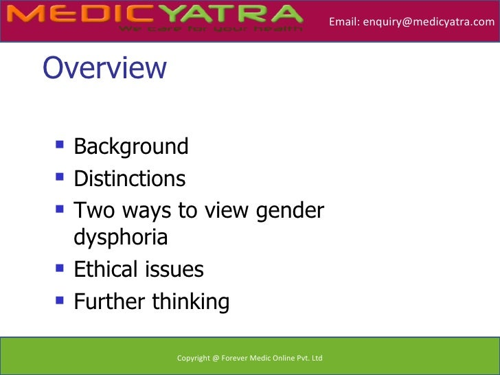 are transgender operations ethical Jennifer hopkins dr mcdonald hu 101: ethics june 29, 2010 gender reassignment surgery: is it ethical i found this topic interesting because it is not often looked.