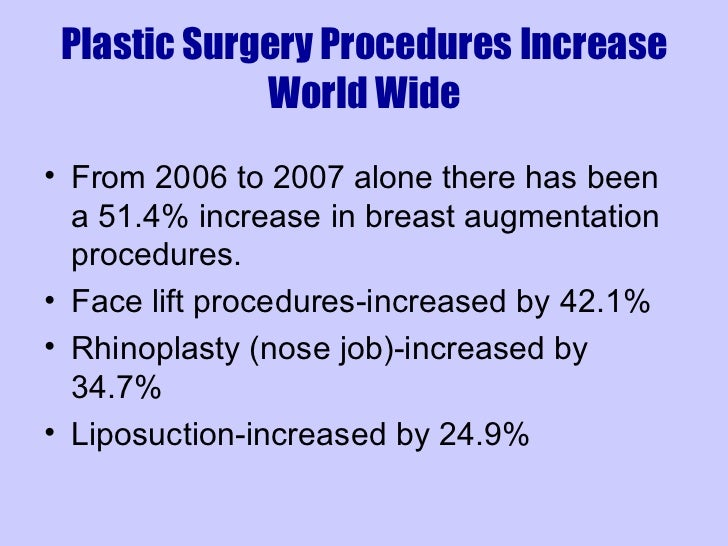 Negative Effects of Plastic Surgery