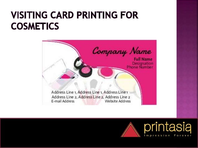 Cosmetics visiting cards impression forever business cards cosmetics online 2 colourmoves