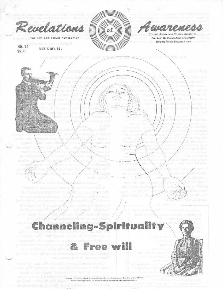 Cosmic Awareness 1989-14: All About the Interpreter's Channeling Free Will and the New Age