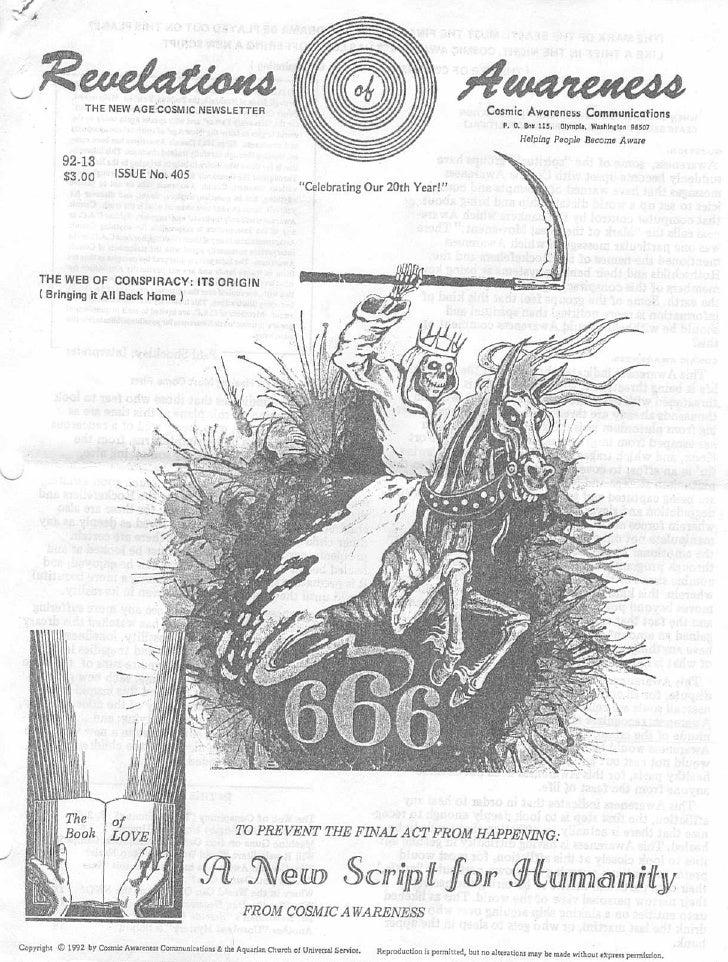 Cosmic Awareness 1992-13: The Web of Conspiracy: Its Origin