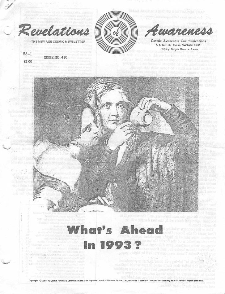 Cosmic Awareness 1993-01: What's Ahead In 1993?