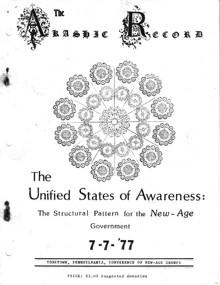 Cosmic Awareness sr002: The Unified States Of Awareness: The Structural Pattern For The New Age Government 7/7/77