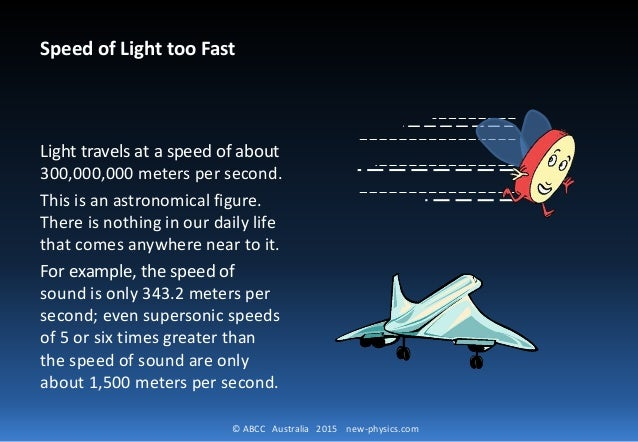 how to go in speed of light