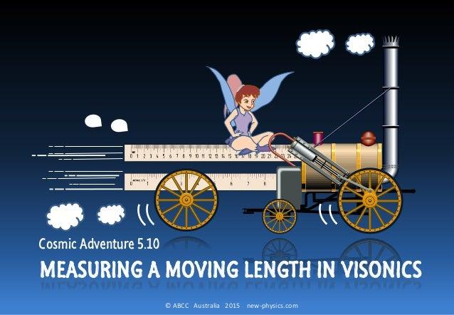 © ABCC Australia 2015 new-physics.com Cosmic Adventure 5.10 MEASURING A MOVING LENGTH IN VISONICS