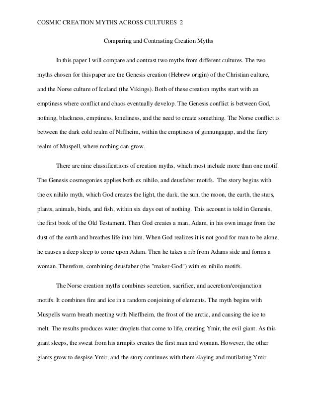 creation myths essay hebrew creation myths essay