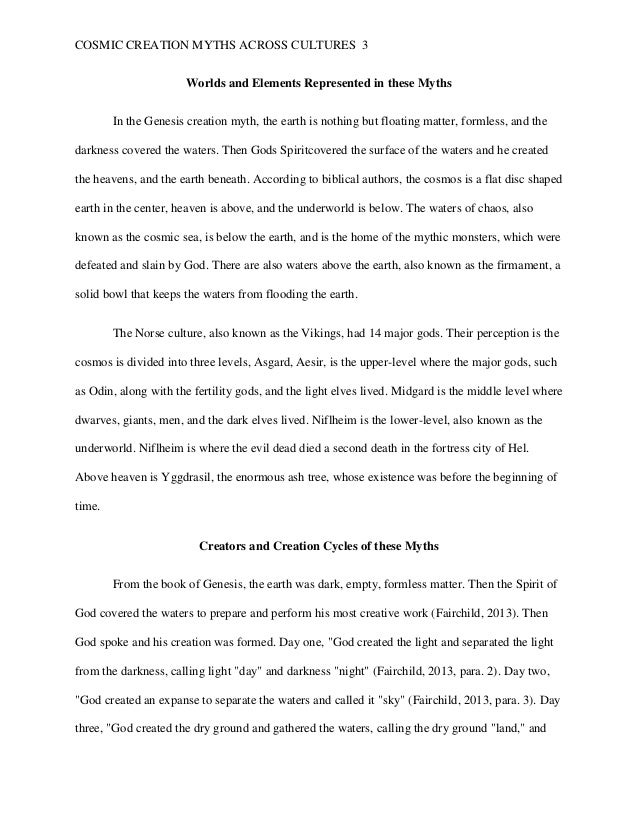 Essay Writing Examples For High School Creation Essay Cosmic Creation Myths Across Cultures The Urchins The  Sample Essays High School also High School And College Essay Creation Essay  Underfontanacountryinncom Thesis Essay