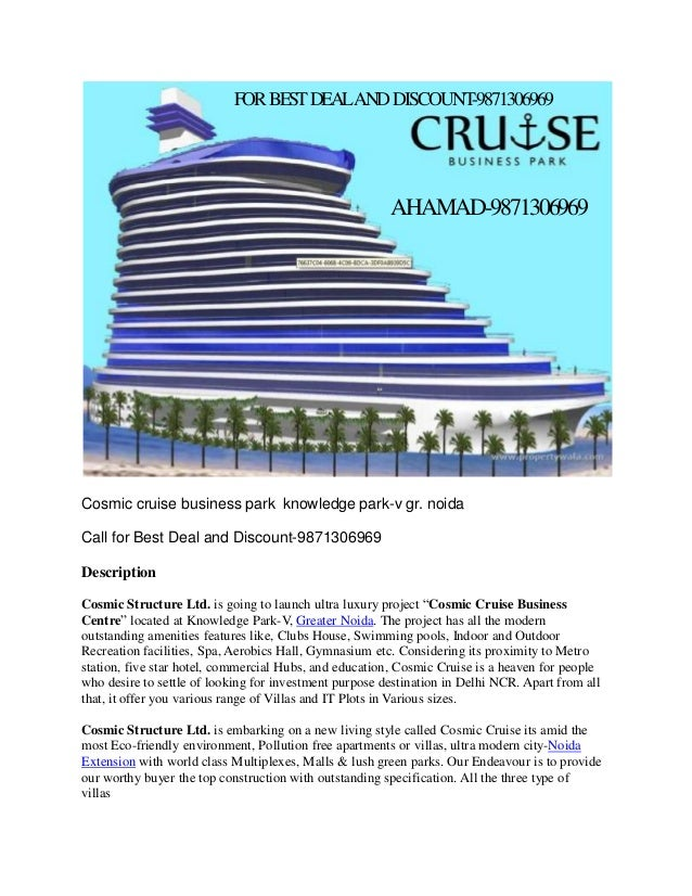 FOR BEST DEALAND DISCOUNT -9871306969  AHAMAD-9871306969  Cosmic cruise business park knowledge park-v gr. noida Call for ...