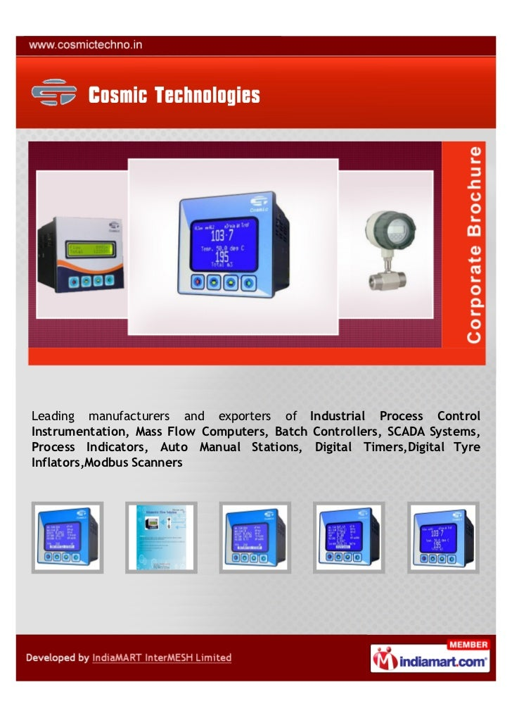 Leading manufacturers and exporters of Industrial Process ControlInstrumentation, Mass Flow Computers, Batch Controllers, ...