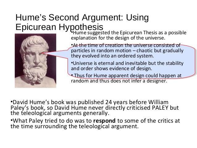 epicurean thesis david hume