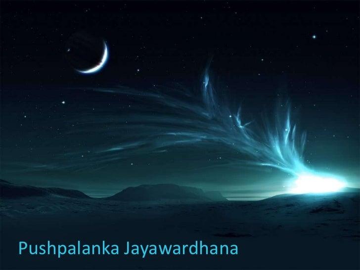 Pushpalanka Jayawardhana<br />