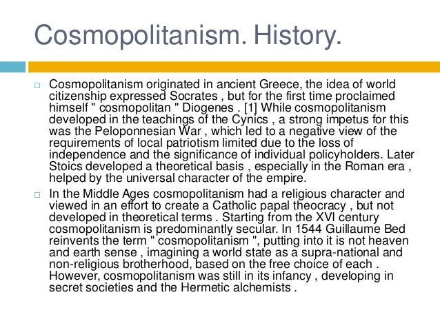 the idea of cosmopolitanism in kwame anthony appiahs the primacy of practice