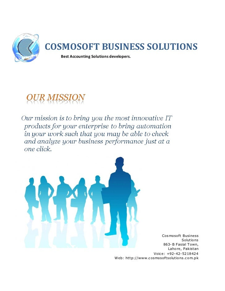 COSMOSOFT BUSINESS SOLUTIONS   Best Accounting Solutions developers.                                                      ...